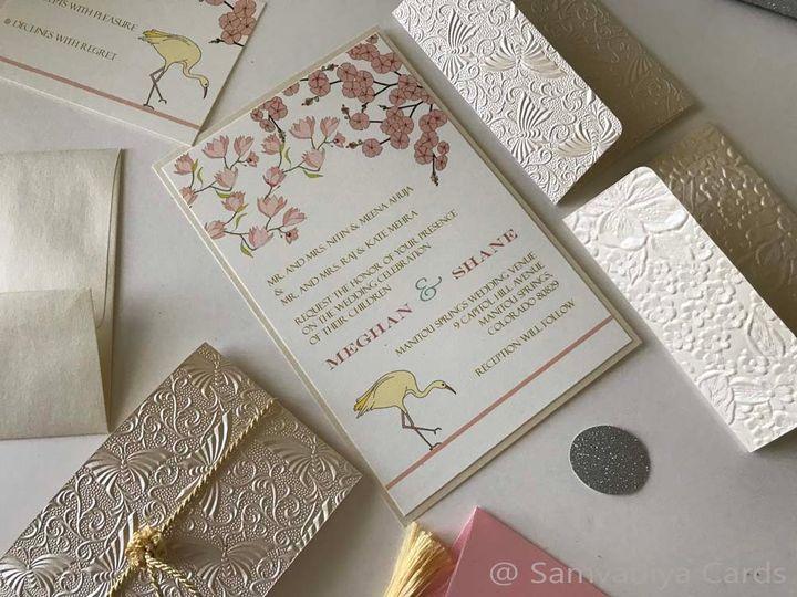 Cherry magnolia inspired invites