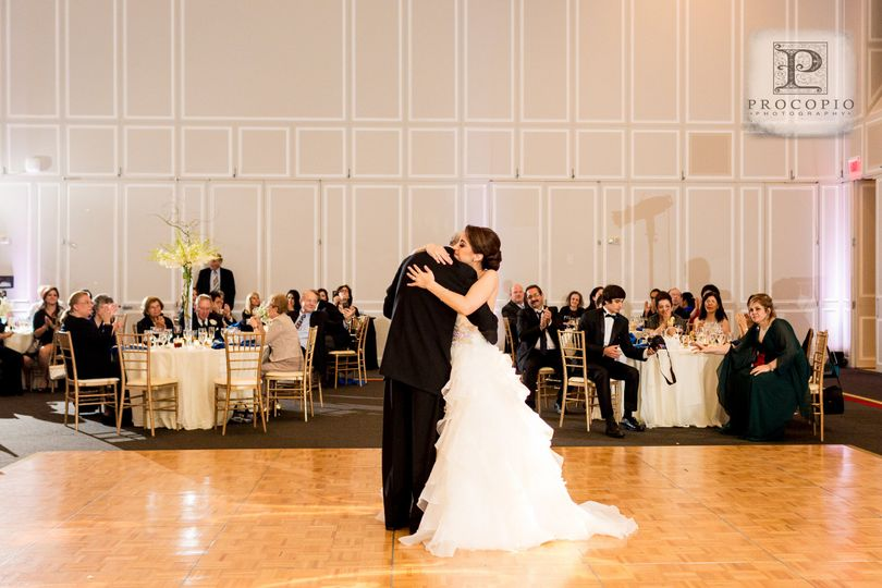 Embracing each other on the dance floor