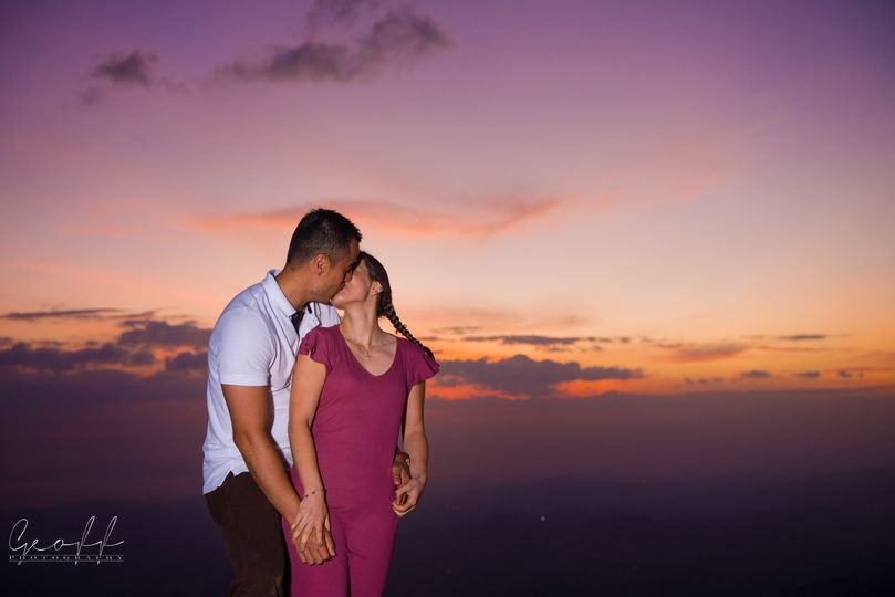 Engagement at Sunset Hill
