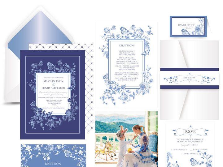 Tmx 1519502258 06a937019b1000e7 1519502257 9e05e30173bcb779 1519502256984 5 Blue China Collect Bergenfield wedding invitation