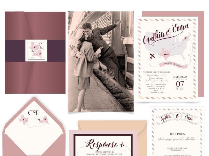 Tmx 1519502934 C331f833f3a558e3 1519502933 Db4ba1f422d1e99b 1519502932729 6 Go The Distance Bergenfield wedding invitation