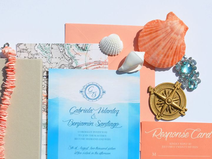 Tmx 1519502954 37df2359f8029a93 1519502953 Eb1933dd86c9f96e 1519502951816 7 Island Coast For W Bergenfield wedding invitation