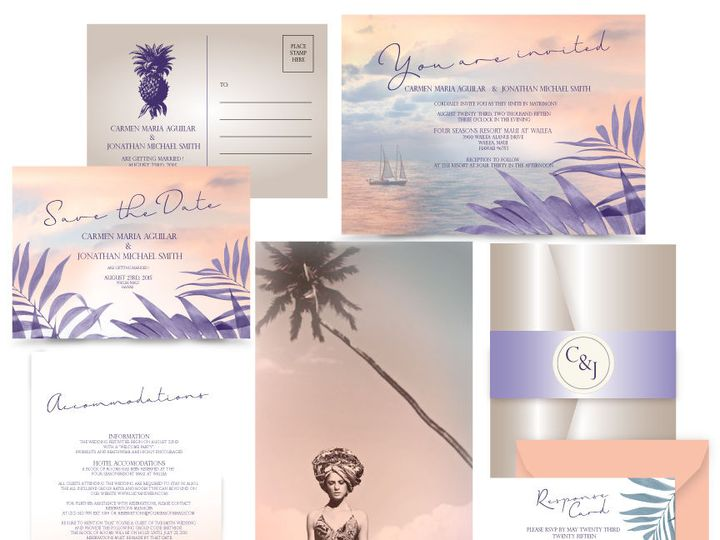 Tmx 1519502999 6833be56944ba9f9 1519502998 A446e30276a1278f 1519502997949 9 LOST IN PARADISE 7 Bergenfield wedding invitation