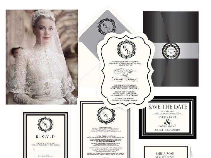 Tmx 1519503046 C7e767d5b1f4b19f 1519503045 D04ac9f51e5b72ab 1519503044966 12 The Grace Kelly 7 Bergenfield wedding invitation
