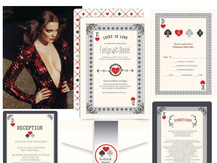 Tmx 1519503064 84ef9c63d38ab169 1519503063 C205316e9772a0a4 1519503062786 13 Lucky In Love 12x Bergenfield wedding invitation