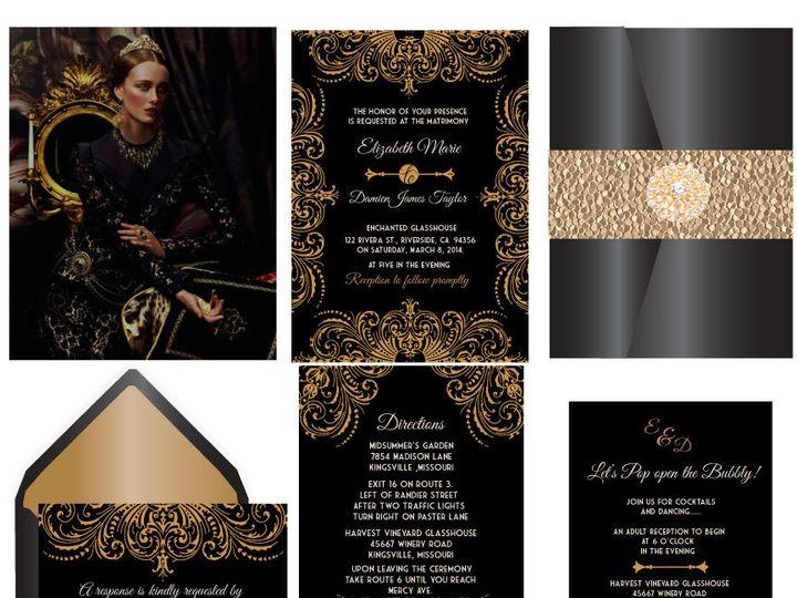 Tmx 1519503135 Bbfc68b39870523c 1519503133 40eebdb602b3c992 1519503133333 17 Royal Event 12x12 Bergenfield wedding invitation