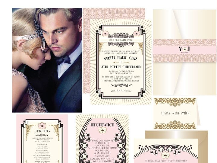 Tmx 1519503153 3742a854f2c9c2d5 1519503152 7523011d8ca6fc19 1519503151962 18 Gatsby Romance 72 Bergenfield wedding invitation