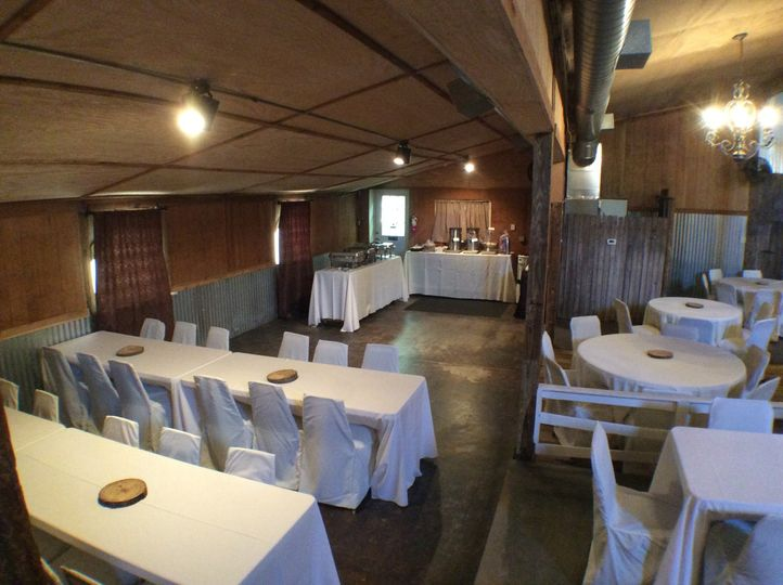 Long white tables