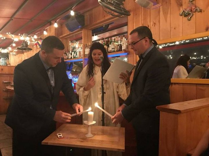 Lighting the candle