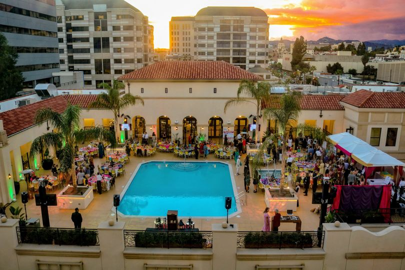Rooftop pool-deck event