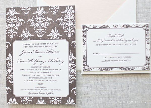 Tmx 1326370642295 DamaskLetterpressLarge Cary wedding invitation