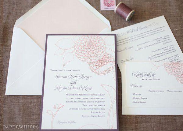 Tmx 1326370643571 DahliaLarge Cary wedding invitation