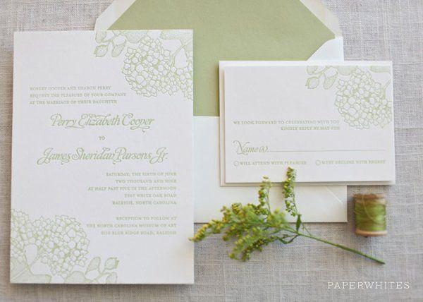 Tmx 1326370647529 HydrangeaLetterpressFeature Cary wedding invitation