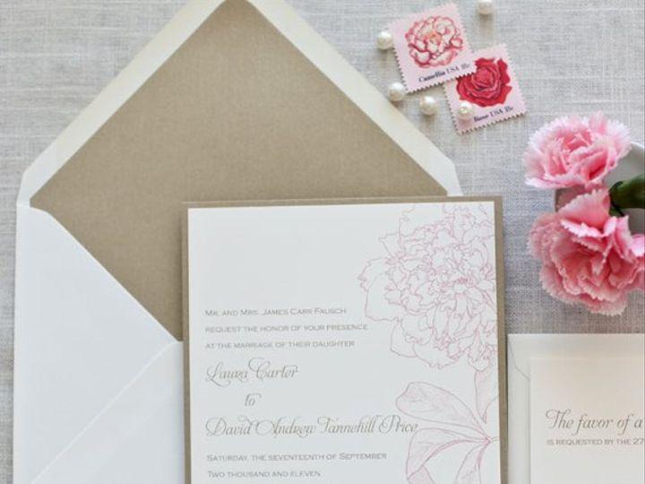 Tmx 1326370661470 PeonyLoveFullSet Cary wedding invitation