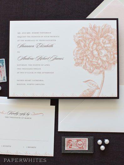 Tmx 1326370662445 PeonyintheWoods1 Cary wedding invitation