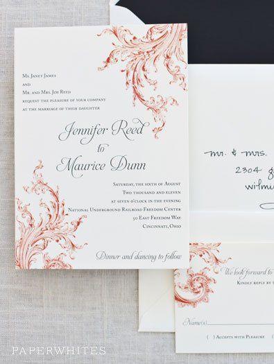 Tmx 1326370663274 PoshScrollImage Cary wedding invitation
