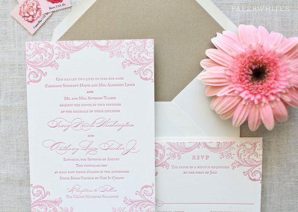 Tmx 1326370667818 RebeccaLetterpressLarge Cary wedding invitation