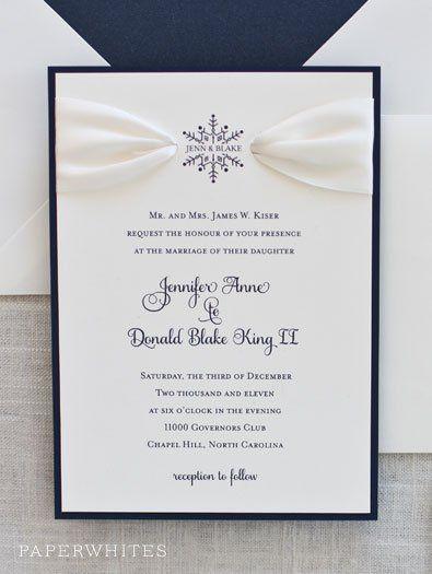 Tmx 1326370672265 SnowflakeRibbonImage Cary wedding invitation