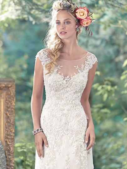 Lace and sleeveless