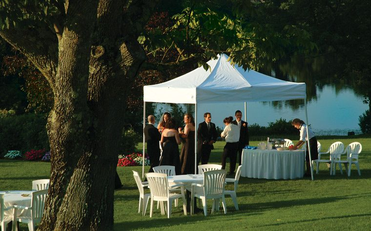 Outdoor, waterfront weddings