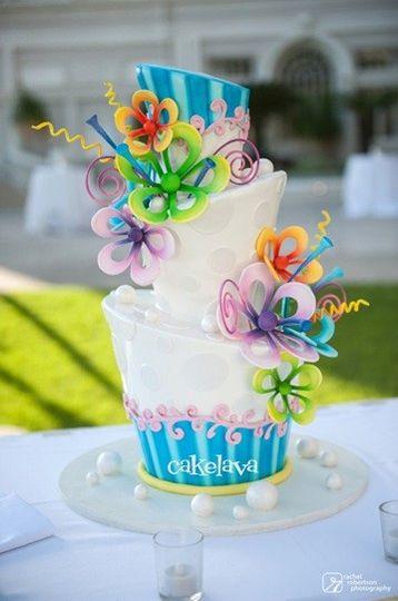 Fun wedding cake design