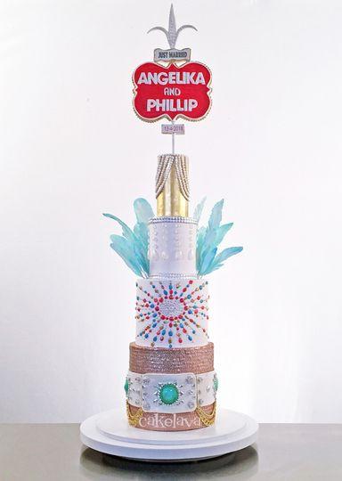 Vintage Vegas cake
