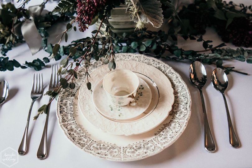 Fine china for an elegant reception