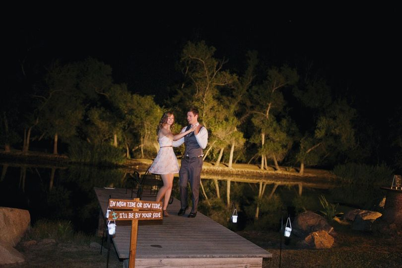 Dancing by the pond