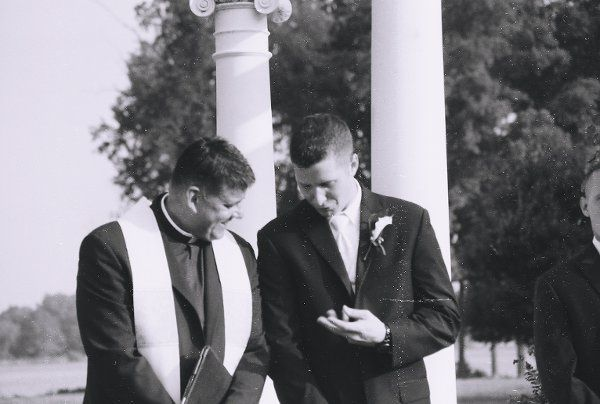 The Priest and the groom