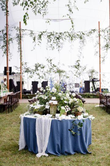 Garden inspired tent wedding