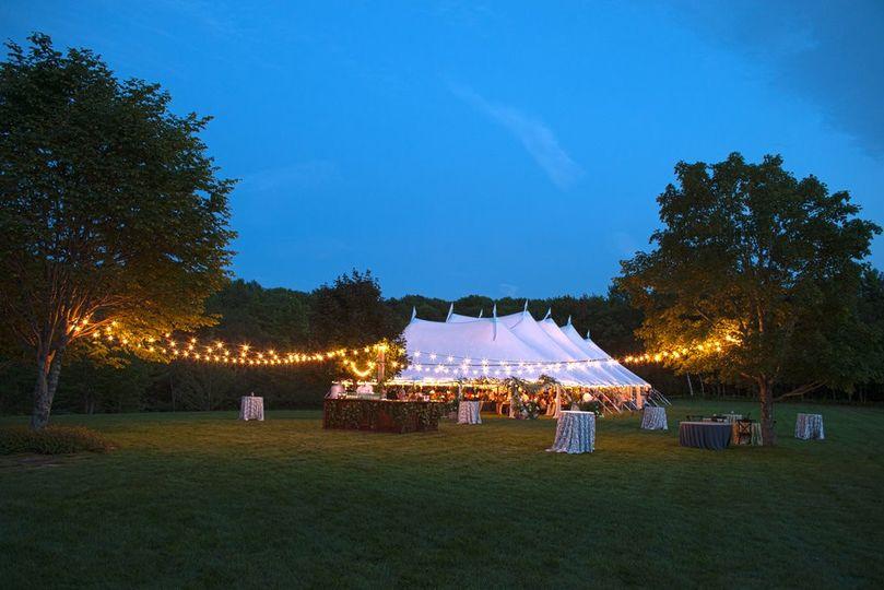 Outdoor tent weddings NC