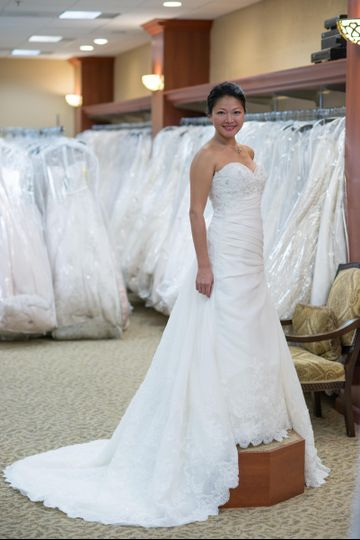 Simple but elegant bridal dress