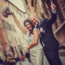Couple waving