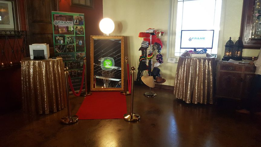 The photo booth setup