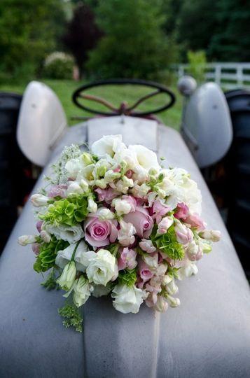 Flowers meet tractor