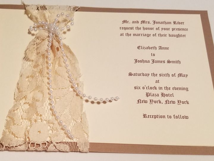 Tmx 1469661749539 Lace And Pearls Bordentown wedding invitation