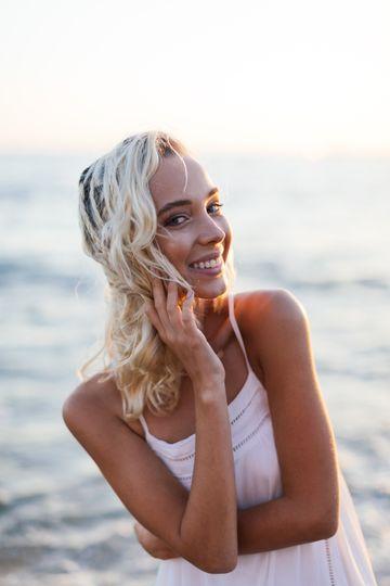 Beachy makeup