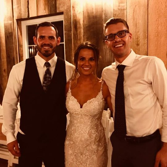 With the happy couple!