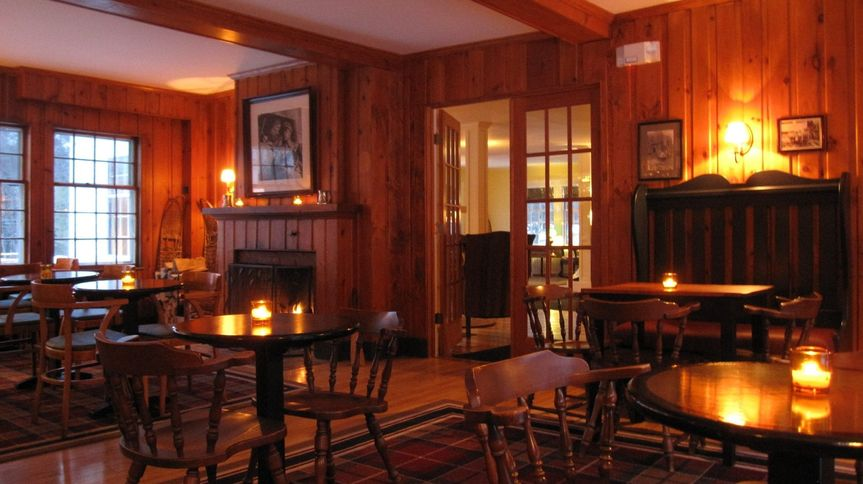 Cozy fireplace in the tavern