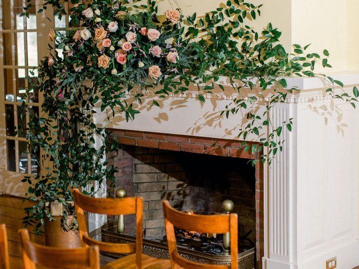 Fireplace indoor ceremony