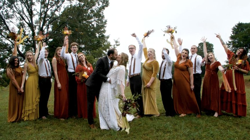 The full bridal party!