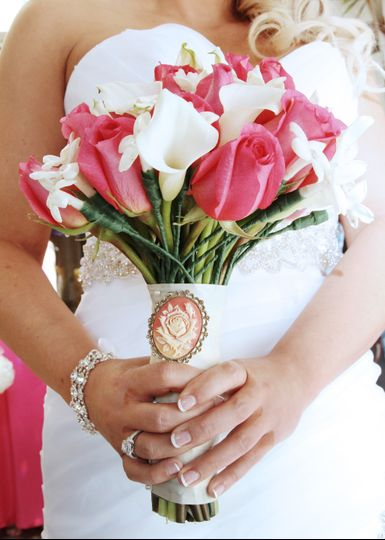 Bride with bouquet - Chrystal Photography