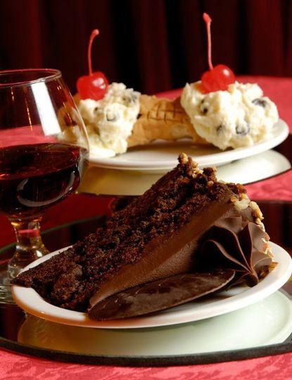 Cake and wine