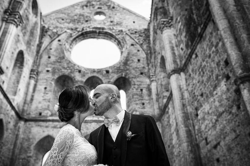 Kiss at san galgano abbey