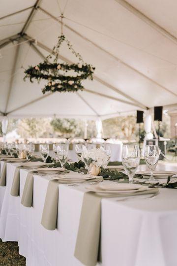 Back yard wedding from scratch
