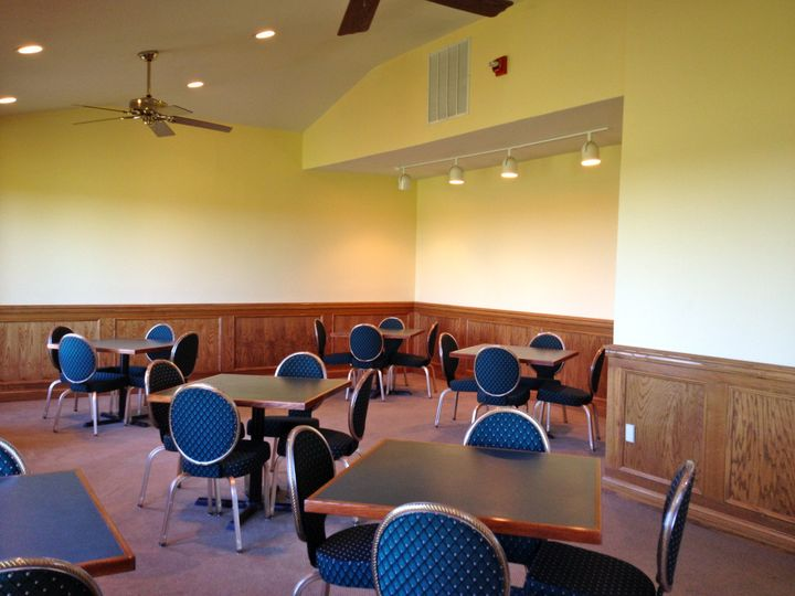 Tables and chairs seating 150 are available for use at no additional charge. However, they can be...