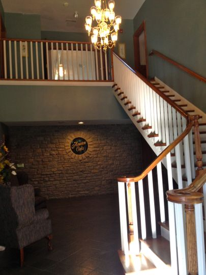 Guest entrance leading to the private reception room.