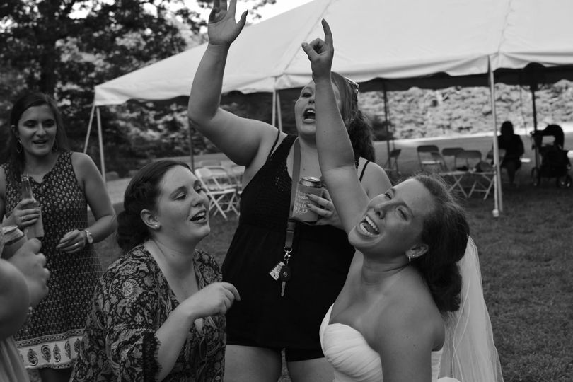 When the bride is having a great time