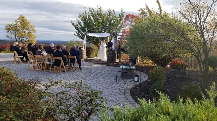 Small ceremony on terrace