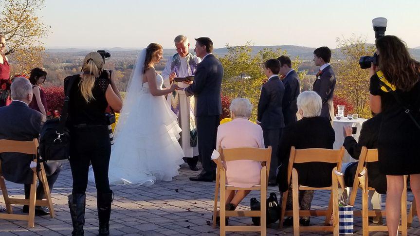 Ceremony on terrace